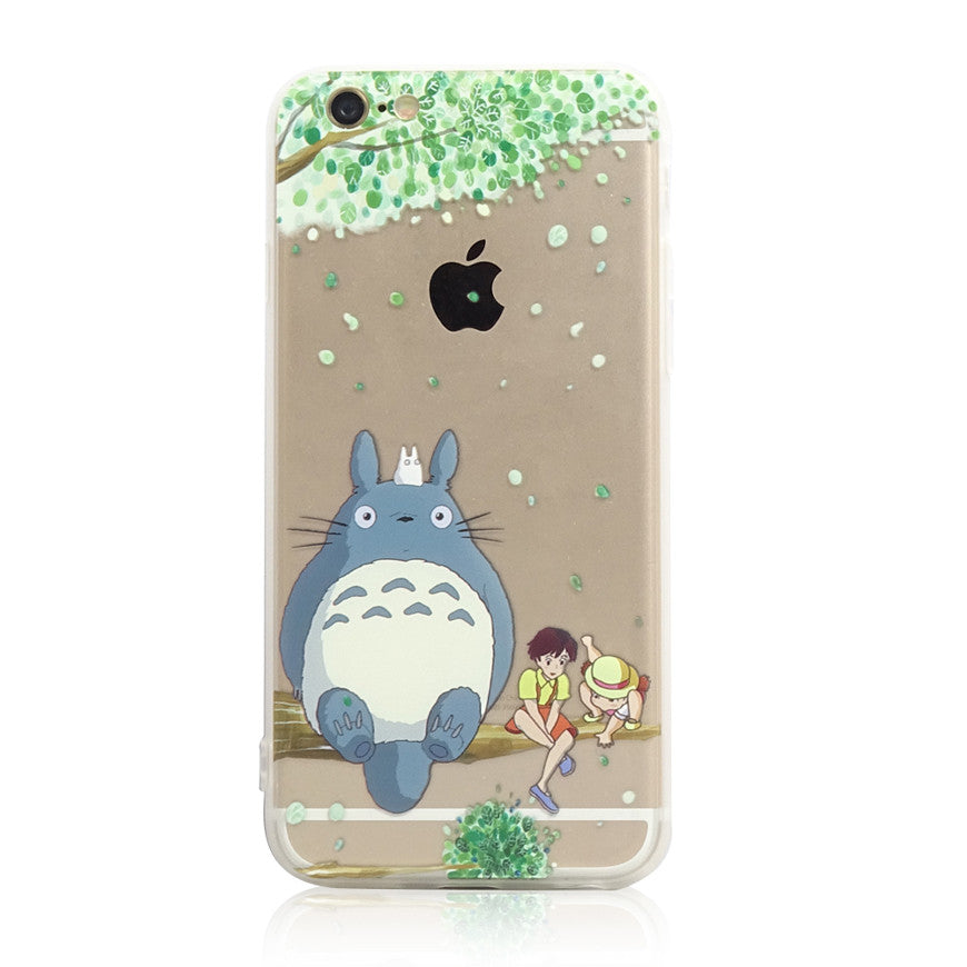 Totoro Tree with satsuki kusakabe iPhone 6s 6 Plus SE 5s 5 Soft Clear Case - Mavasoap - 1
