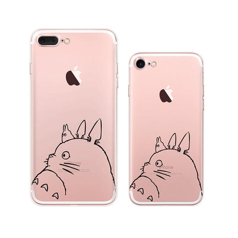 Totoro iPhone 7 Plus Soft Clear Cases