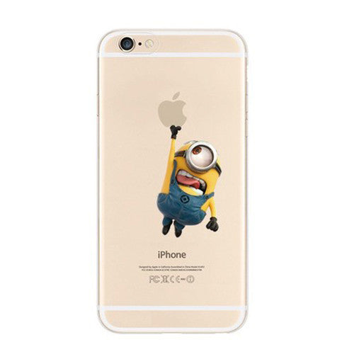 Minions Touch Apple iPhone 6s 6 Plus Se 5s 5 Soft Clear Case - Mavasoap