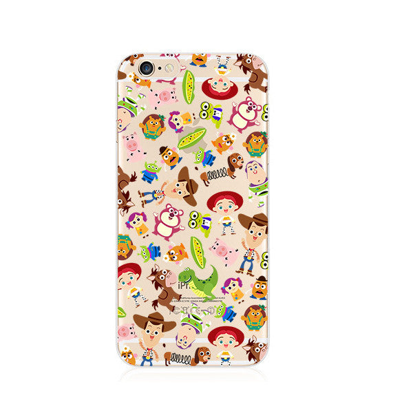 Toy Story Cartoon Pattern iPhone 6s 6 Plus SE 5s 5 Soft Clear Case - Mavasoap