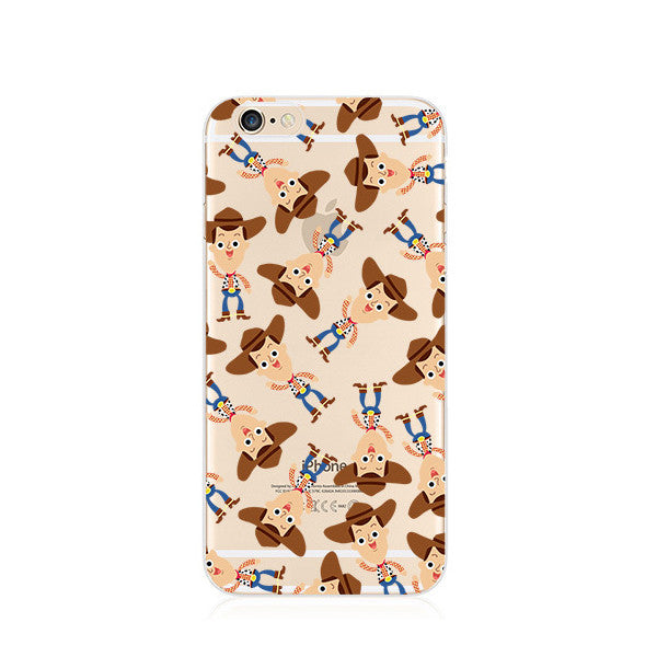 Toy Story Woody Pattern iPhone 6s 6 Plus SE 5s 5 Soft Clear Case - Mavasoap