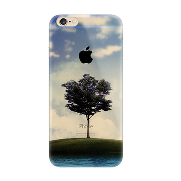 Tree Scenery Nature iPhone 6s 6 Plus Soft Clear Case - Mavasoap