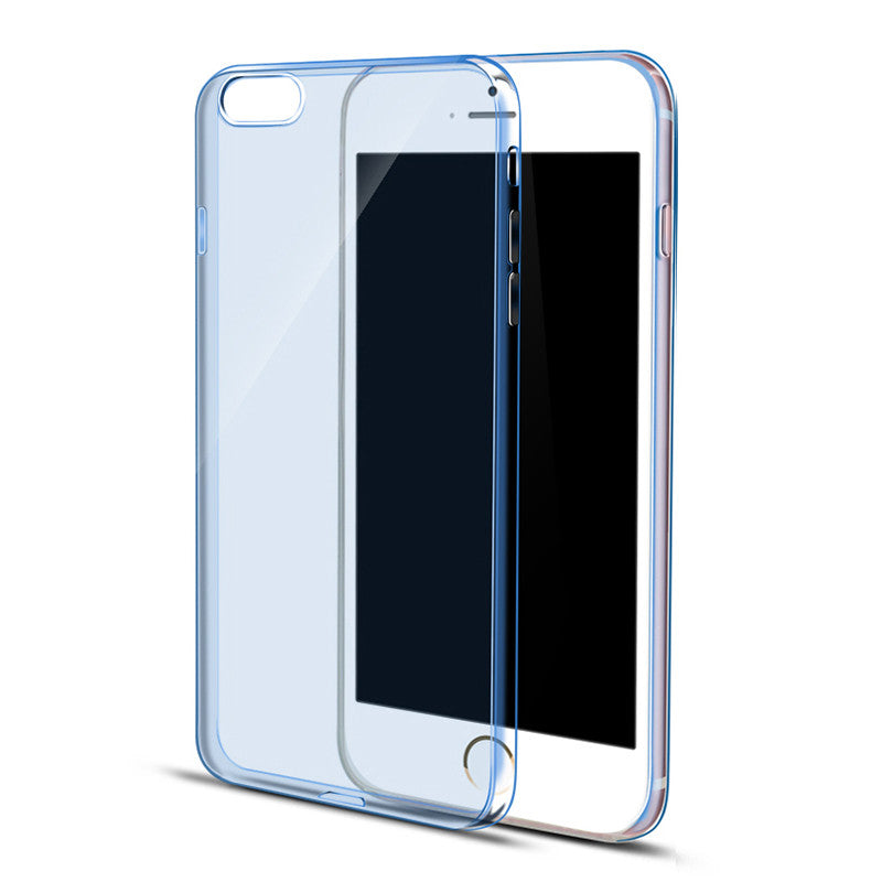 Ultra Thin Soft Clear Case Back Cover for iPhone 6s 6 Plus SE 5s 5 (Blue) - Mavasoap - 1