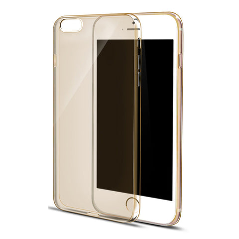 Ultra Thin Soft Clear Case Back Cover for iPhone 6s 6 Plus SE 5s 5 (Gold) - Mavasoap - 1