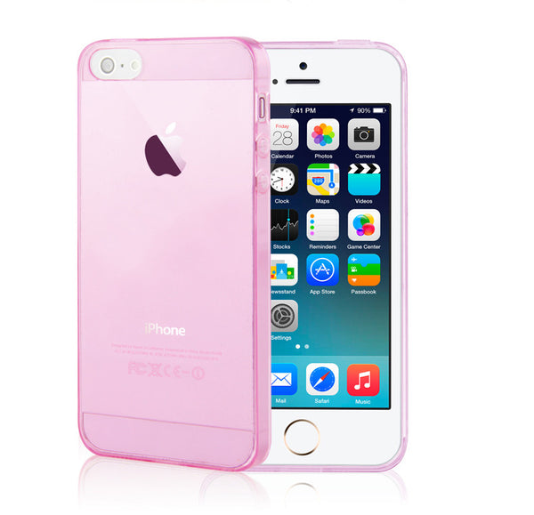 Ultra Thin Soft Clear Case Back Cover for iPhone 6s 6 Plus SE 5s 5 (Pink) - Mavasoap - 2