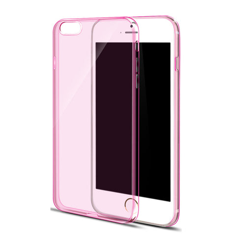 Ultra Thin Soft Clear Case Back Cover for iPhone 6s 6 Plus SE 5s 5 (Pink) - Mavasoap - 1