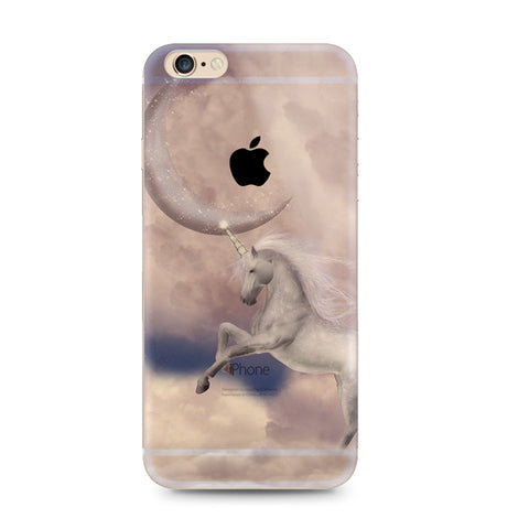 Unicorn Moon Nature iPhone 6s 6 Plus SE 5s 5 Soft Clear Case - Mavasoap - 1
