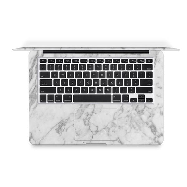White Marble Decal Skin Set for the Apple MacBook Air Pro - Mavasoap - 3