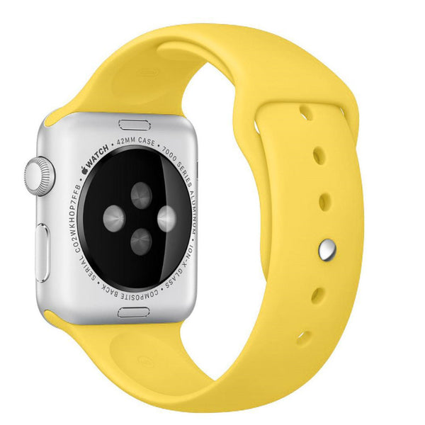 Apple Watch Yellow Sport Band Strap - Mavasoap - 2