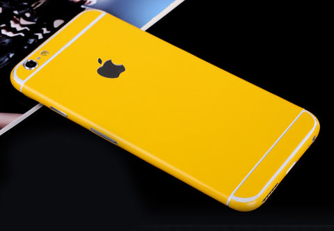 Yellow Pure Decal Wrap Skin Set iPhone 6s 6 / iPhone 6s 6 Plus - Mavasoap - 1