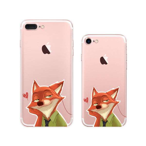 Zootopia Nick Wilde iPhone 7 Soft Clear Cases