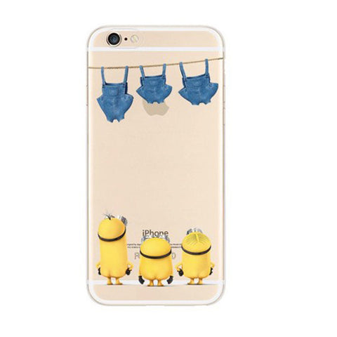 Minions Turn Back Jeans iPhone 6s 6 Plus SE 5s 5 Soft Clear Case - Mavasoap