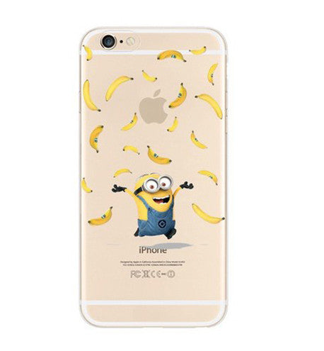 Minions Banana Apple iPhone 6s 6 Plus SE 5s 5 Soft Clear Case - Mavasoap