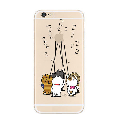 Cat Balloon iPhone 6s 6 Soft Clear Case - Mavasoap