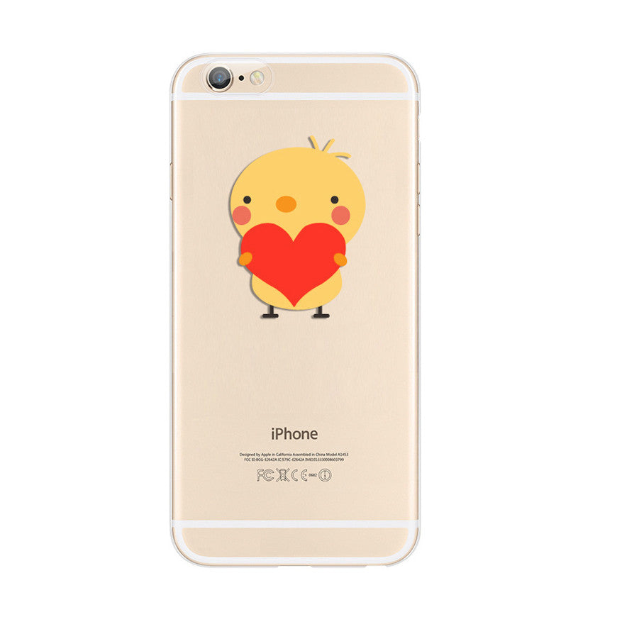Chick Sweet Love Heart iPhone 6s 6 Plus SE 5s 5 Soft Clear Case - Mavasoap - 1