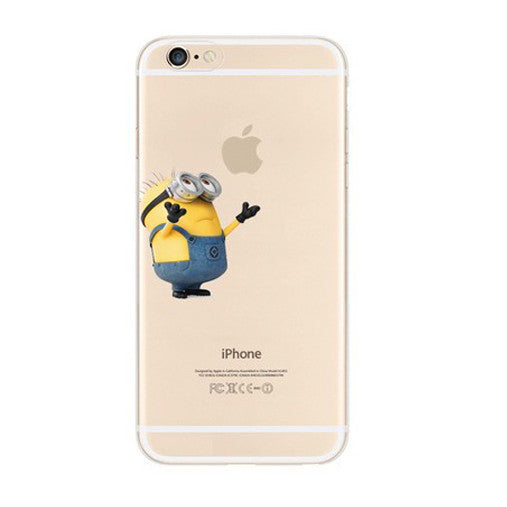 Minions Give me Hug iPhone 6s 6 Plus SE 5s 5 Soft Clear Case - Mavasoap