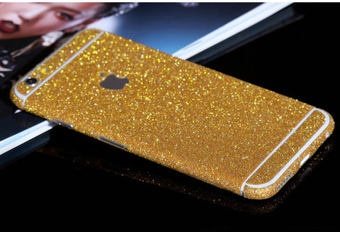 Gold Sparkle Glitter Decal Wrap Skin Set iPhone 6s 6 / iPhone 6s 6 Plus - Mavasoap - 1