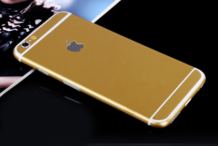 Gold Pure Decal Wrap Skin Set iPhone 6s 6 / iPhone 6s 6 Plus - Mavasoap - 1