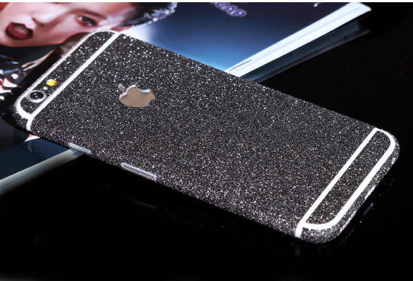 Grey Black Sparkle Glitter Decal Wrap Skin Set iPhone 6s 6 / iPhone 6s 6 Plus - Mavasoap - 1