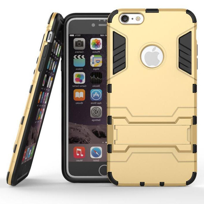 iPhone 6s 6 Plus Gold Tough Armor Protective Case - Mavasoap - 1
