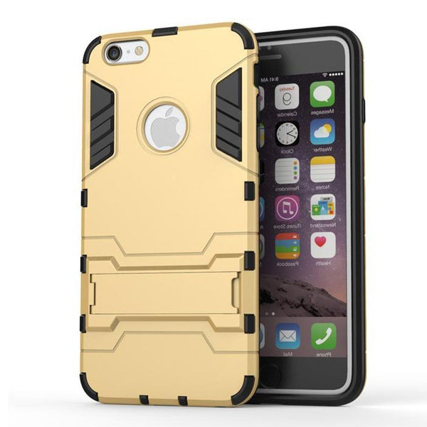 iPhone 6s 6 Plus Gold Tough Armor Protective Case - Mavasoap - 2