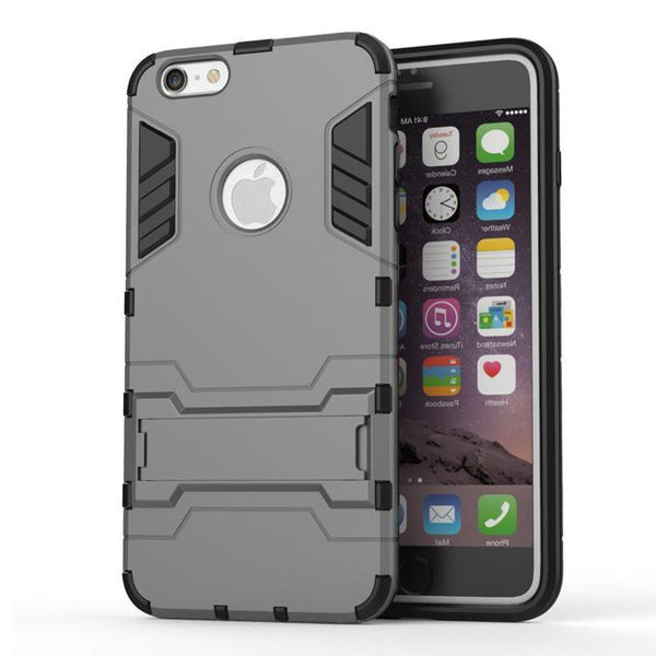 iPhone 6s 6 Plus Grey Tough Armor Protective Case - Mavasoap - 2