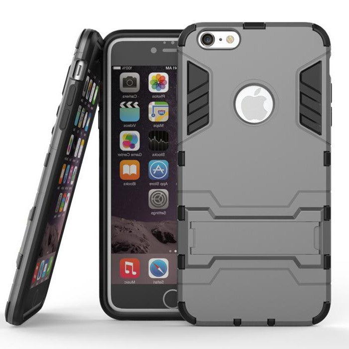 iPhone 6s 6 Plus Grey Tough Armor Protective Case - Mavasoap - 1