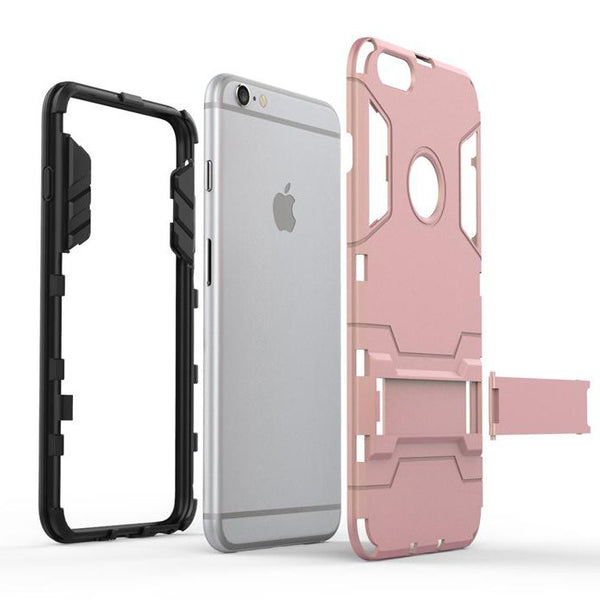 iPhone 6s 6 Plus Silver Tough Armor Protective Case - Mavasoap - 3