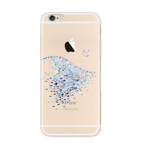 Ocean Fish iPhone 6s 6 Plus SE 5s 5 Soft Clear Case - Mavasoap