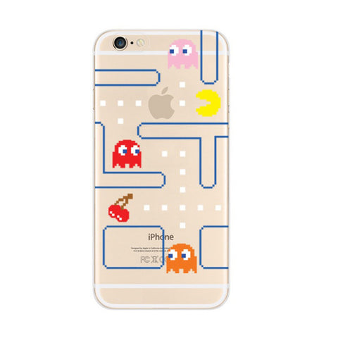 Pac Man Maze iPhone 6s 6 Plus SE 5s 5 Soft Clear Case - Mavasoap