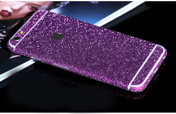 Purple Sparkle Glitter Decal Wrap Skin Set iPhone 6s 6 / iPhone 6s 6 Plus - Mavasoap - 1