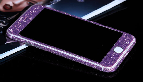 Purple Sparkle Glitter Decal Wrap Skin Set iPhone 6s 6 / iPhone 6s 6 Plus - Mavasoap - 2