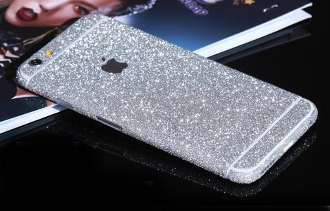 Silver Sparkle Glitter Decal Wrap Skin Set iPhone 6s 6 / iPhone 6s 6 Plus - Mavasoap - 1
