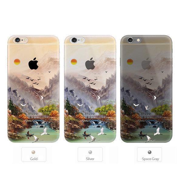 Sunset Crane Bird Nature iPhone 6s 6 Plus SE 5s 5 Soft Clear Case - Mavasoap - 2