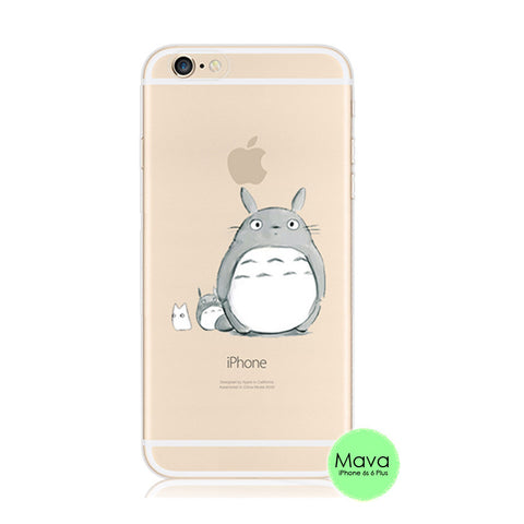 Totoro Apple iPhone 6s 6 Plus SE 5s 5 Soft Clear Case - Mavasoap
