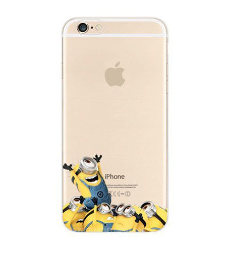 Minions Cheer Welcome iPhone 6s 6 Plus SE 5s 5 Soft Clear Case - Mavasoap