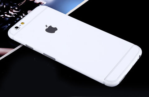 White Pure Decal Wrap Skin Set iPhone 6s 6 / iPhone 6s 6 Plus - Mavasoap - 1
