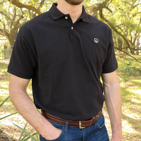 Men's Cotton Black River Polo