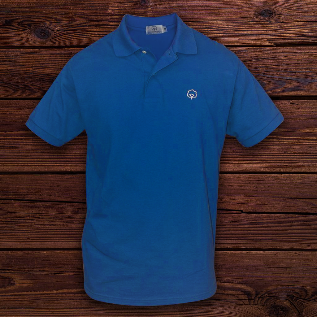 Men's Cotton Carolina Indigo Polo