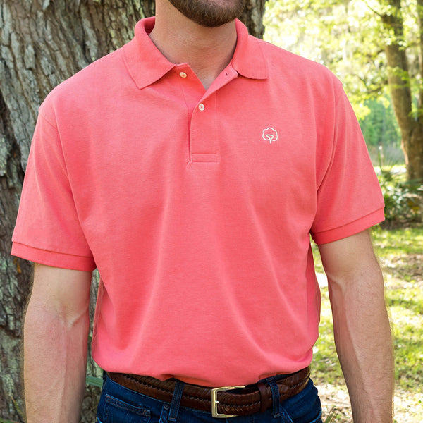 Men's Cotton Atlantic Coral Polo
