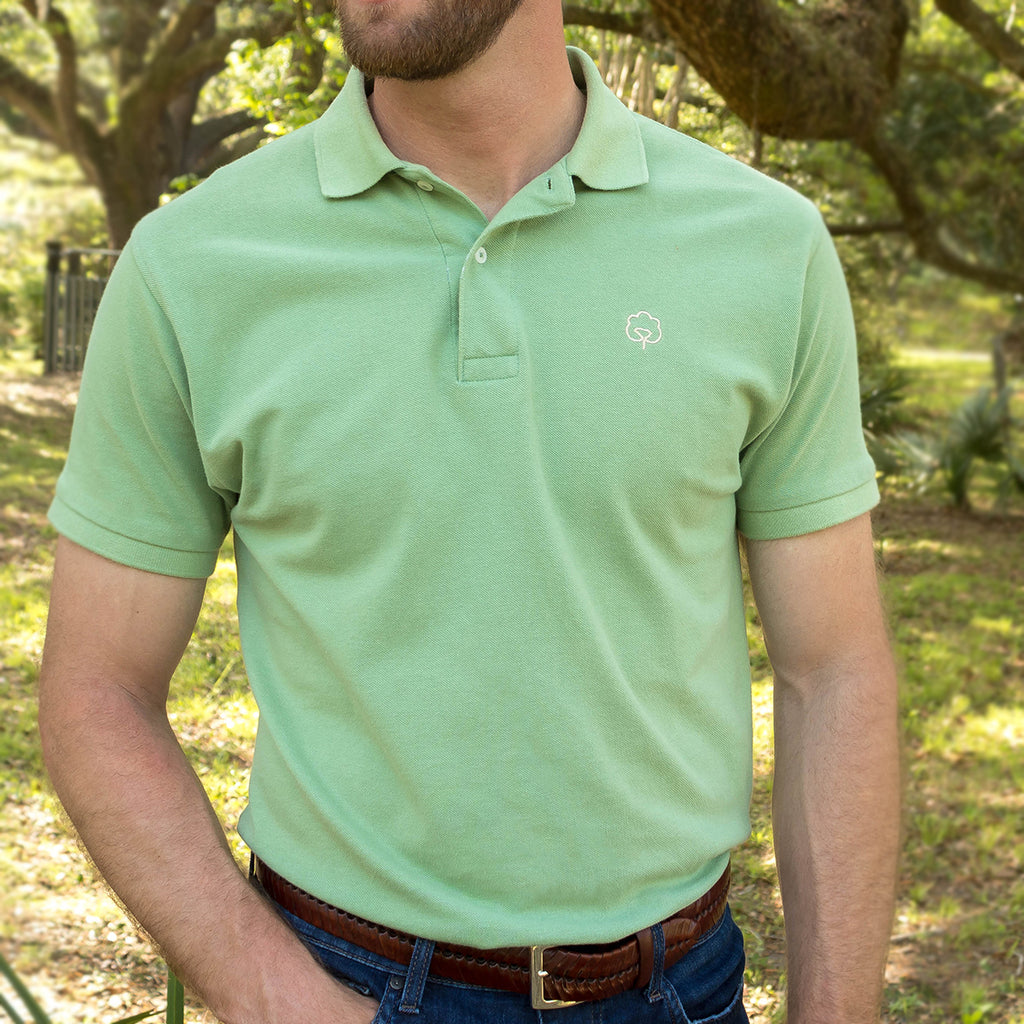 Men's Cotton Green Sea Polo