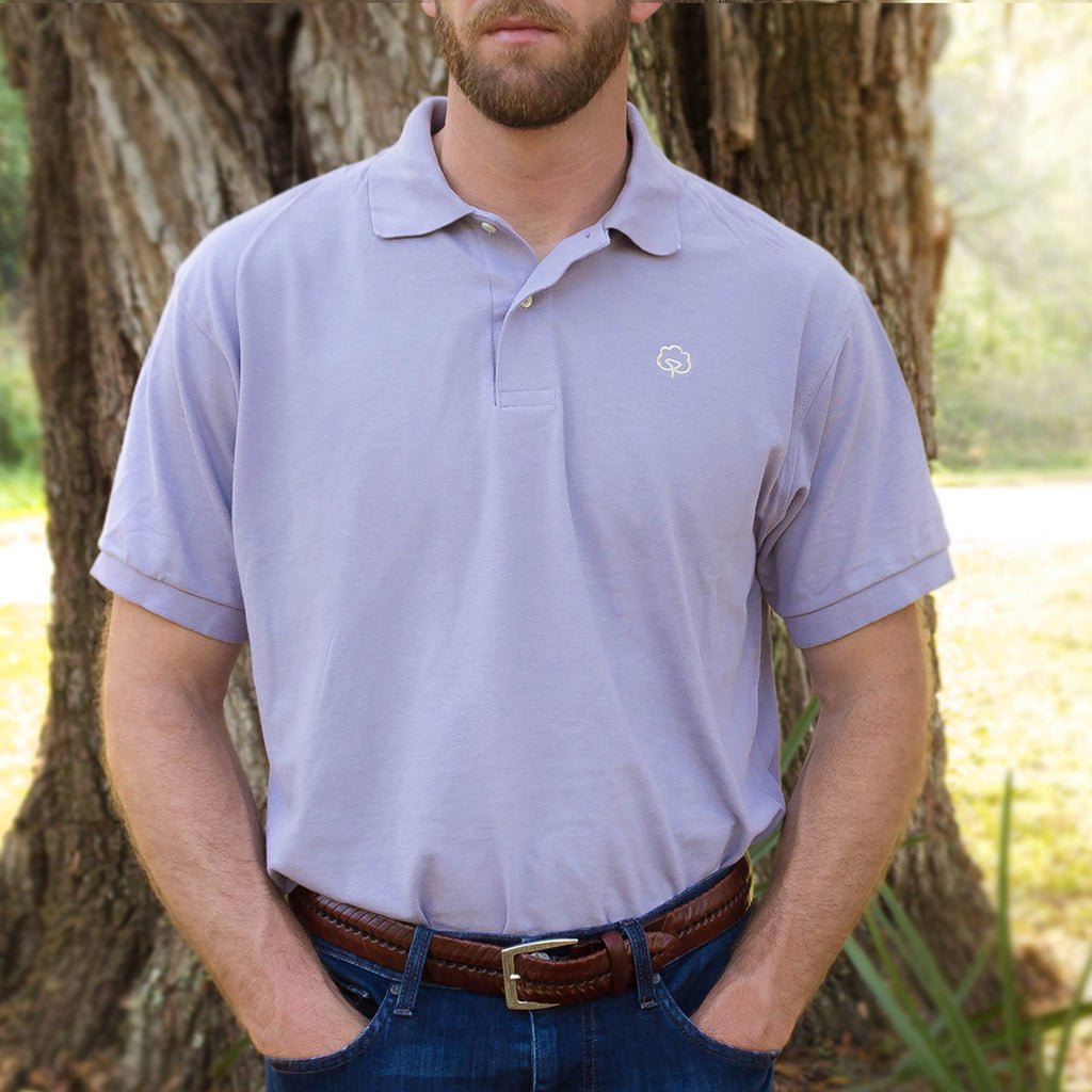 Men's Cotton Lafayette Lilac Polo