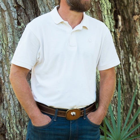Men's Cotton Natural Polo