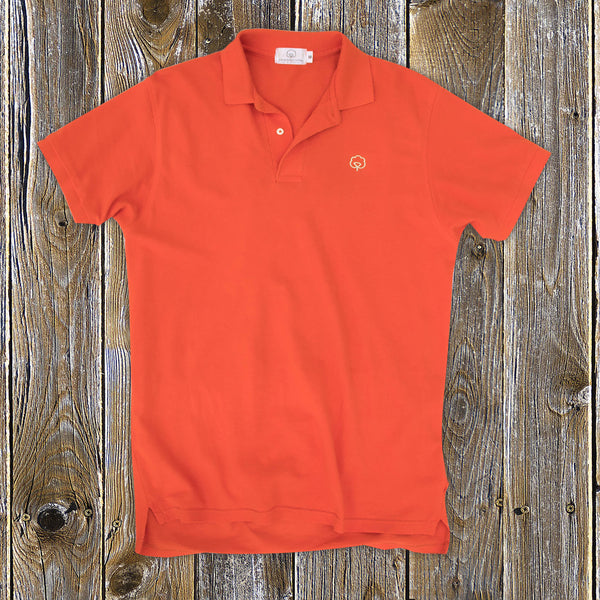 Men's Cotton Country Gentlemen Orange Polo