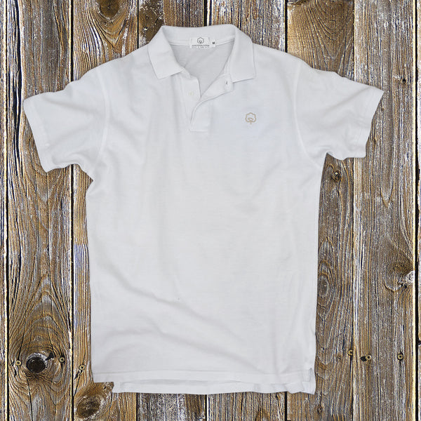 Men's Cotton White Gold Polo