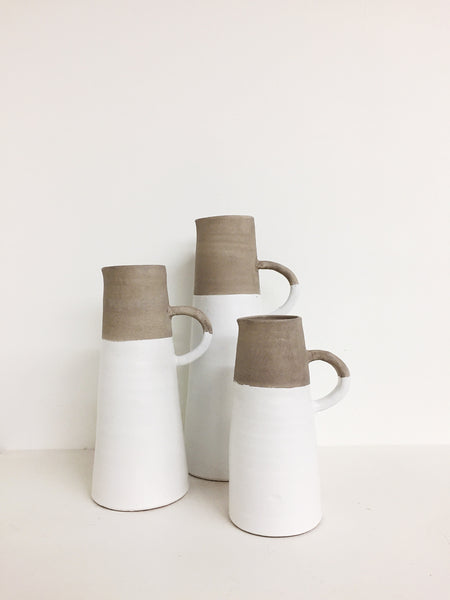 Dipped Pottery Pitchers