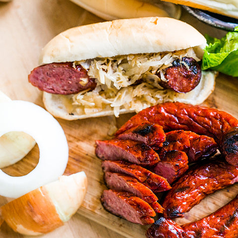 The Kielbasa box is perfect for grilling, parties or gifts.
