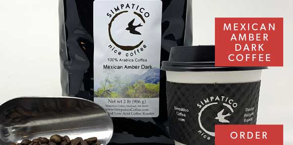 Mexican amber dark coffee