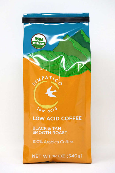 Simpatico Organic Low Acid: Black & Tan Smooth Roast