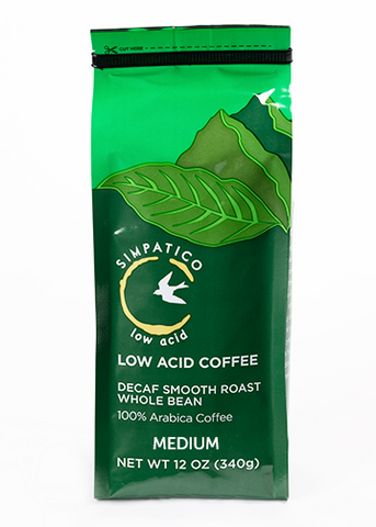 Simpatico Low Acid Decaf: Medium Smooth Roast 12 oz